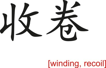 Chinese Sign for winding, recoil