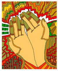 mani che accolgono