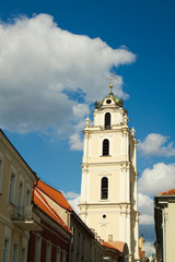 Vilnius city. Beautiful European city