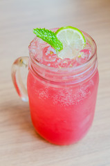 Pink lemonade juice cocktail
