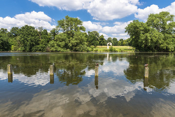 Serpentine Lake in Hyde Park in the summer, London, UK