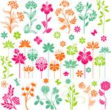 Colorful floral set