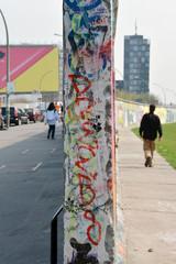 vor und hinter der Berliner Mauer