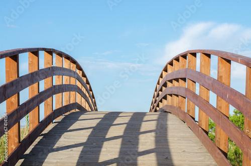 canvas print picture Holzbrücke