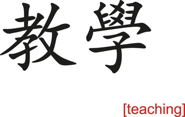 Chinese Sign for teaching