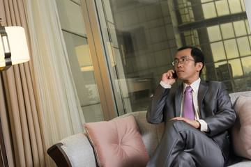 businessman using cellphon