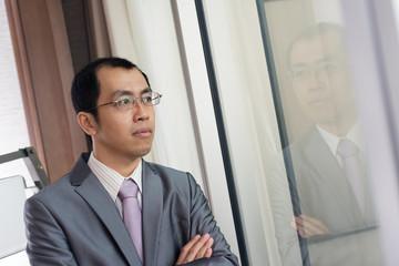 Confident mature businessman