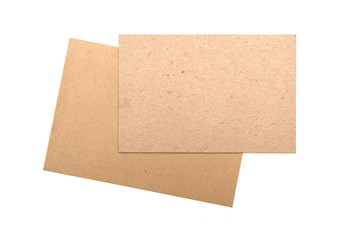 Brown envelopes Cardboard sheet of recycle paper gift cards and