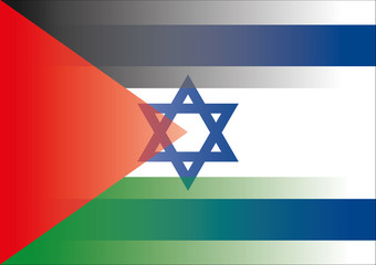 palestine israel flags