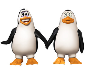3d cartoon penguins