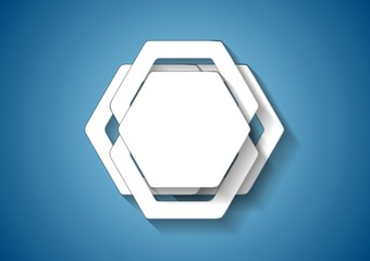 Abstract hexagons vector template