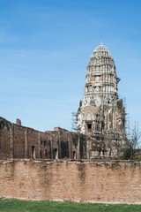 Maintenance Chedi in Ayutthaya of Thailand