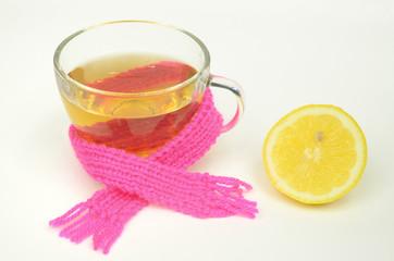 heisser Tee mit Zitrone