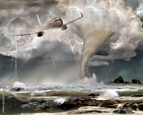 Passagierflugzeug in Notlage bei Unwetter