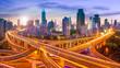 Leinwanddruck Bild - Shanghai Skyline