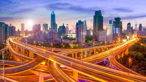 Zdjęcia na płótnie, fototapety na wymiar, obrazy na ścianę : Shanghai Skyline