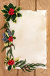 canvas print picture - Christmas Floral Border