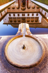 Alhambra Courtyard Myrtles Pool Granada Andalusia Spain