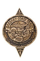 Sign of Barbary Coast Trail in San Francisco