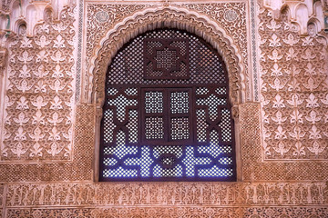 Alhambra Window Moorish Wall Designs Granada Andalusia Spain