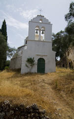 Church of estravromenos in corfu island, greece