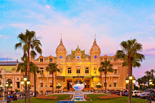 Foto op Canvas Theater Casino Monte Carlo, Monaco