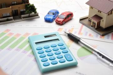住宅と車と経理