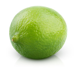 Citrus lime fruit isolated on white with clipping path