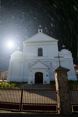 Church under the sun and stars