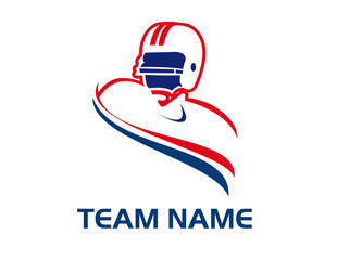 American football logotype