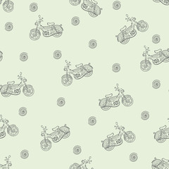 Seamless texture moped