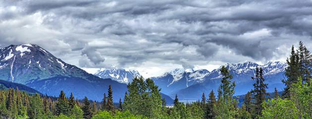 Alaskan mountain landscape, Kenai Peninsula