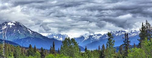 Tuinposter Natuur Park Alaskan mountain landscape, Kenai Peninsula