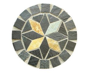 Circle Mosaic stone pattern on white background