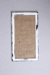 Wooden frame on color background