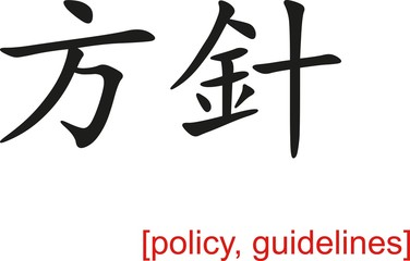 Chinese Sign for policy, guidelines