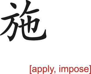 Chinese Sign for apply, impose