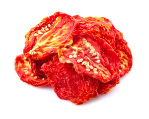 Heap of dried tomato