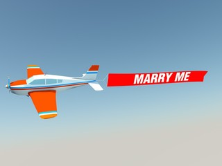 Plane with marry me banner