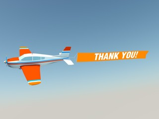 Plane with thank you  banner