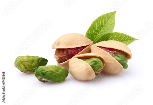 Pistachio with leaves - 67425363