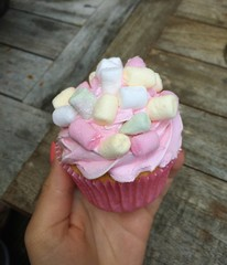 pink glitter cupcake