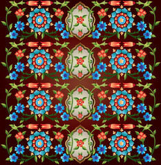 Ottoman motifs design series fifty eight version