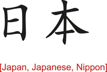 Chinese Sign for Japan, Japanese, Nippon