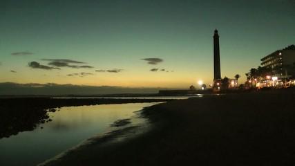 Maspalomas, Sonnenuntergang, Gran Canaria