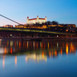 Detaily fotografie Bratislava at twilght