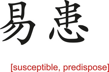 Chinese Sign for susceptible, predispose