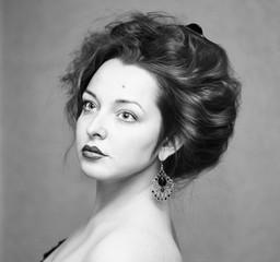 Close-up portrait of Lady