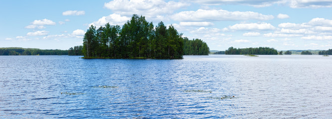 Lake Rutajarvi summer view (Finland).
