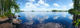 Lake Rutajarvi summer panorama (Finland). - 67428186